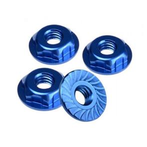 JConcepts Thin Pattern Locking Wheel Nut 8/32 Fr Blue (4) JCO2167