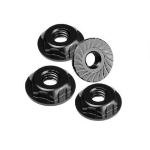 JConcepts Thin Pattern Locking Wheel Nut 8/32 Fr Black (4) JCO2168