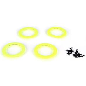 Team Losi Racing Beadlock Rings Yellow 22SCT (4) TLR7005