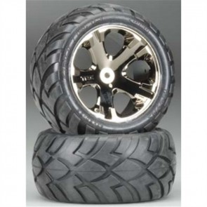 Traxxas Tires and Wheels Assembled Glued Electric Rear TRA3773A