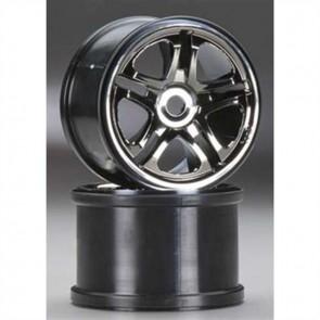 "Traxxas 3.8"" SS Black Chrome Wheels (2): Revo, T-Maxx TRA5172A"