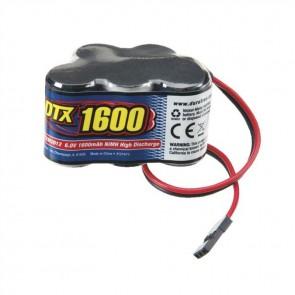 DuraTrax 5 Cell 6.0V 1600mAh NiMH Hump Battery Receiver Univ Conn DTXM2012
