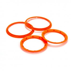 Losi Beadlock Set, Inner & Outer Flour Orange(2): 5T LOS45007
