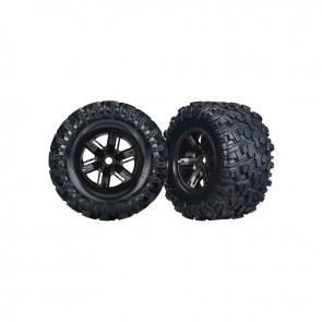 Traxxas Tires/Wheels Assembled Glued X-Maxx (2) TRA7772