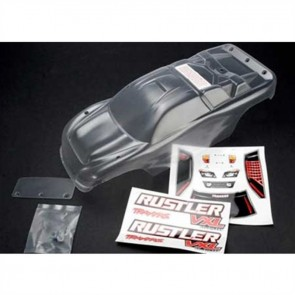Traxxas Rustler VXL Clear 1/10 Truck Body with Decal Hardware TRA3714