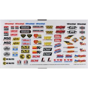 Traxxas Sponsor Decal Sheet TRA2514